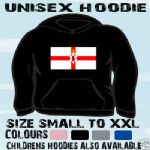 ULSTER NORTHERN IRELAND FLAG UNISEX HOODIE HOODED TOP